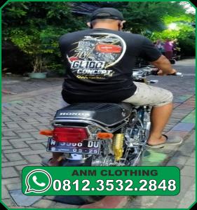 Contoh Model Kaos Anniversary Komunitas Club Motor